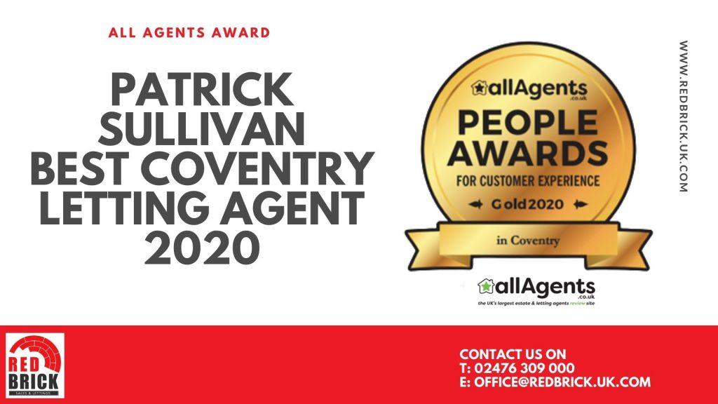 Best Coventry Letting Agent 2020 - Patrick Sullivan